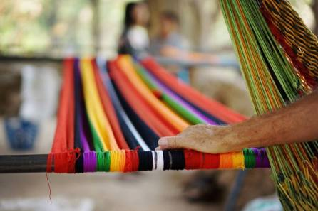 Hammocks made by the Yellow Leaf Tribe